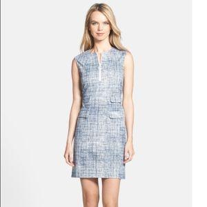 Tory Burch Kinsley print pointe sheath dress